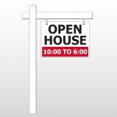 "Open House 21 18""H x 24""W Swing Arm Sign"
