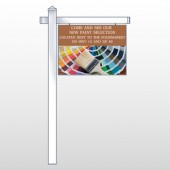 "Paint Brushes 256 18""H x 24""W Swing Arm Sign"