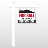 "Sale By Owner 29 18""H x 24""W Swing Arm Sign"