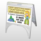Campground 144 A Frame Sign