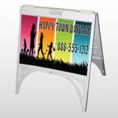 Happy Town 181 A Frame Sign