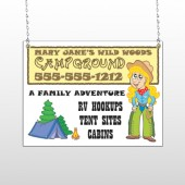 Campground 144 Window Sign