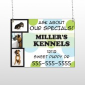Dog Kennels 300 Window Sign