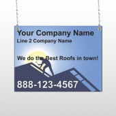Roofing 258 Window Sign
