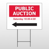 Auction 61 Wire Frame Sign