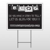 Blog Line 430 Wire Frame Sign