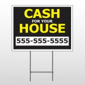 Cash For House 107 Wire Frame Sign