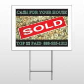 Cash Sold 250 Wire Frame Sign