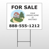 Dream Home 255 Wire Frame Sign