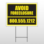 Foreclosure 12 Wire Frame Sign