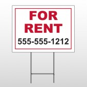 For Rent 44 Wire Frame Sign