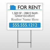 For Rent 127 Wire Frame Sign