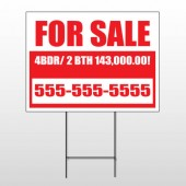 For Sale 109 Wire Frame Sign