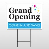 Grand Opening 89 Wire Frame Sign