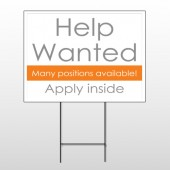 Help Wanted 81 Wire Frame Sign