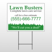 Lawn Busters 91 Wire Frame Sign
