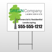 Lawn Service 98 Wire Frame Sign
