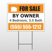 Sale By Owner 27 Wire Frame Sign