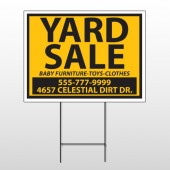 Yellow Black 551 Wire Frame Sign