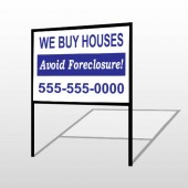 Avoid Foreclosure 163 H-Frame Sign