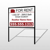For Rent 106 H-Frame Sign