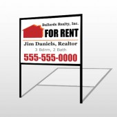 For Rent 126 H-Frame Sign