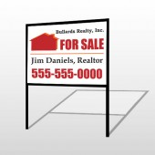 For Sale 136 H-Frame Sign