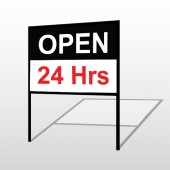 Open 24 Hours 84 H-Frame Sign