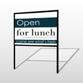 Open For Lunch 83 H-Frame Sign