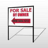 Sale By Owner 24 H-Frame Sign