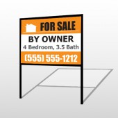 Sale By Owner 27 H-Frame Sign