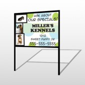 Dog Kennels 300 H Frame Sign