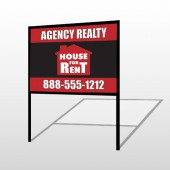 Red House Rent 360 H-Frame Sign