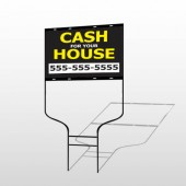 Cash For House 107 Round Rod Sign