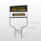 For Lease 42 Round Rod Sign