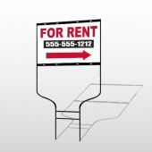 For Rent 46 Round Rod Sign