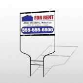 For Rent 122 Round Rod Sign