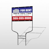 For Rent 123 Round Rod Sign