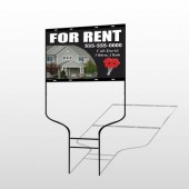 For Rent 124 Round Rod Sign
