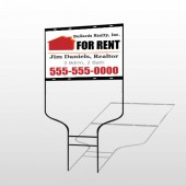 For Rent 126 Round Rod Sign