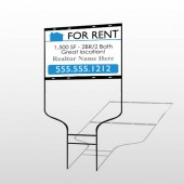 For Rent 127 Round Rod Sign