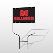 Go Bull Dogs 75 Round Rod Sign