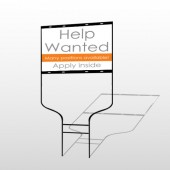 Help Wanted 81 Round Rod Sign