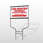 Low Monthly 116 Round Rod Sign