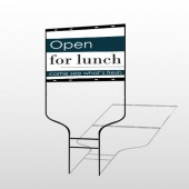 Open For Lunch 83 Round Rod Sign