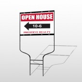 Open House 18 Round Rod Sign
