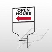 Open House 20 Round Rod Sign