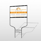 Real Estate 103 Rod Round Sign