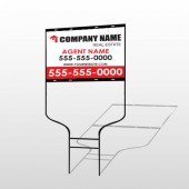 For Rent 106 Round Rod Sign