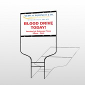 Blood Drive 330 Round Rod Sign